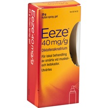 Eeze - Kutan spray, gel 40 mg/g 25 gram