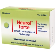 Neurol forte - Dragerad tablett 80 tablett(er)