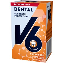 V6 Dental Care tuggummi - Melonsmak. 50 st