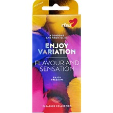 RFSU Enjoy variation - En mix av latexkondomer 8 st