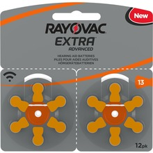 Rayovac Extra advanced - Hörapparatsbatterier 13 orange 12 st