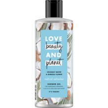 Love Beauty and Planet duschgel - Kokosvatten och mimosablomma. 500 ml