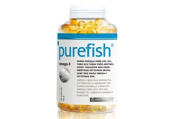 Purefish Norsk fiskolja 180 kaps