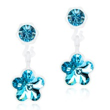 Blomdahl - MP Pend Flower Aquamarine 4/6mm par