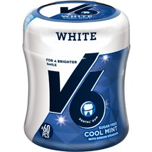 V6 - White Cool Mint Burk 60 st