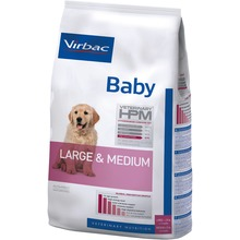 Virbac Veterinary HPM Baby Dog Large & Medium - Friskfoder till valpar /stora raser. 12kg.