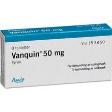 Vanquin 50 mg – Dragerad tablett mot springmask – Fri frakt f046eba698e44