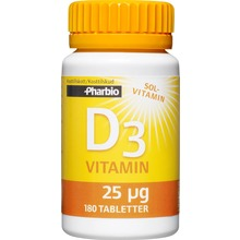 Pharbio D3-vitamin - 25 µg, 1000 IE. 100 st