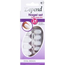 Depend - Nagel set oval design m rosa lim 1st