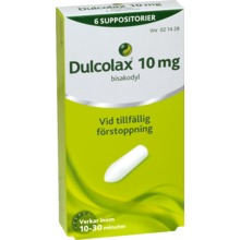 Dulcolax - Suppositorium 10 mg Bisakodyl 6 suppositorium/suppositorier